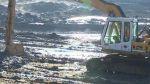 Bagrování dna Luhačovické přehrady